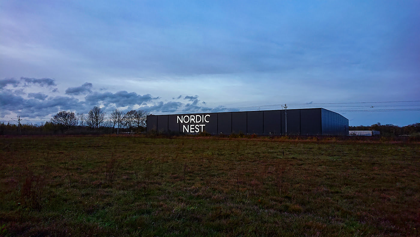 Fasadskylt Nordic Nest
