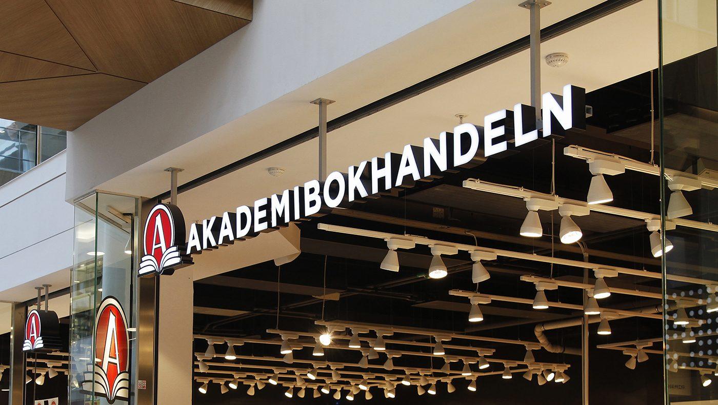 Skyltprogram åt Akademibokhandeln