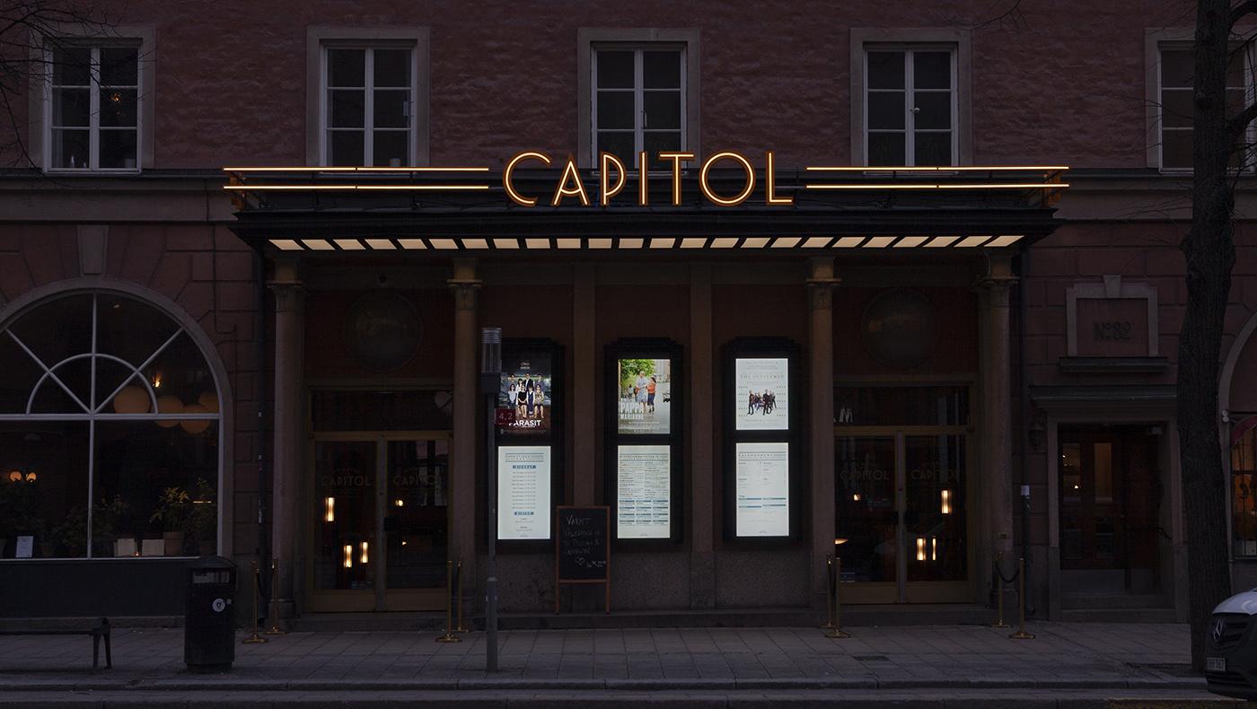 Ljusskylt Capitol Bio