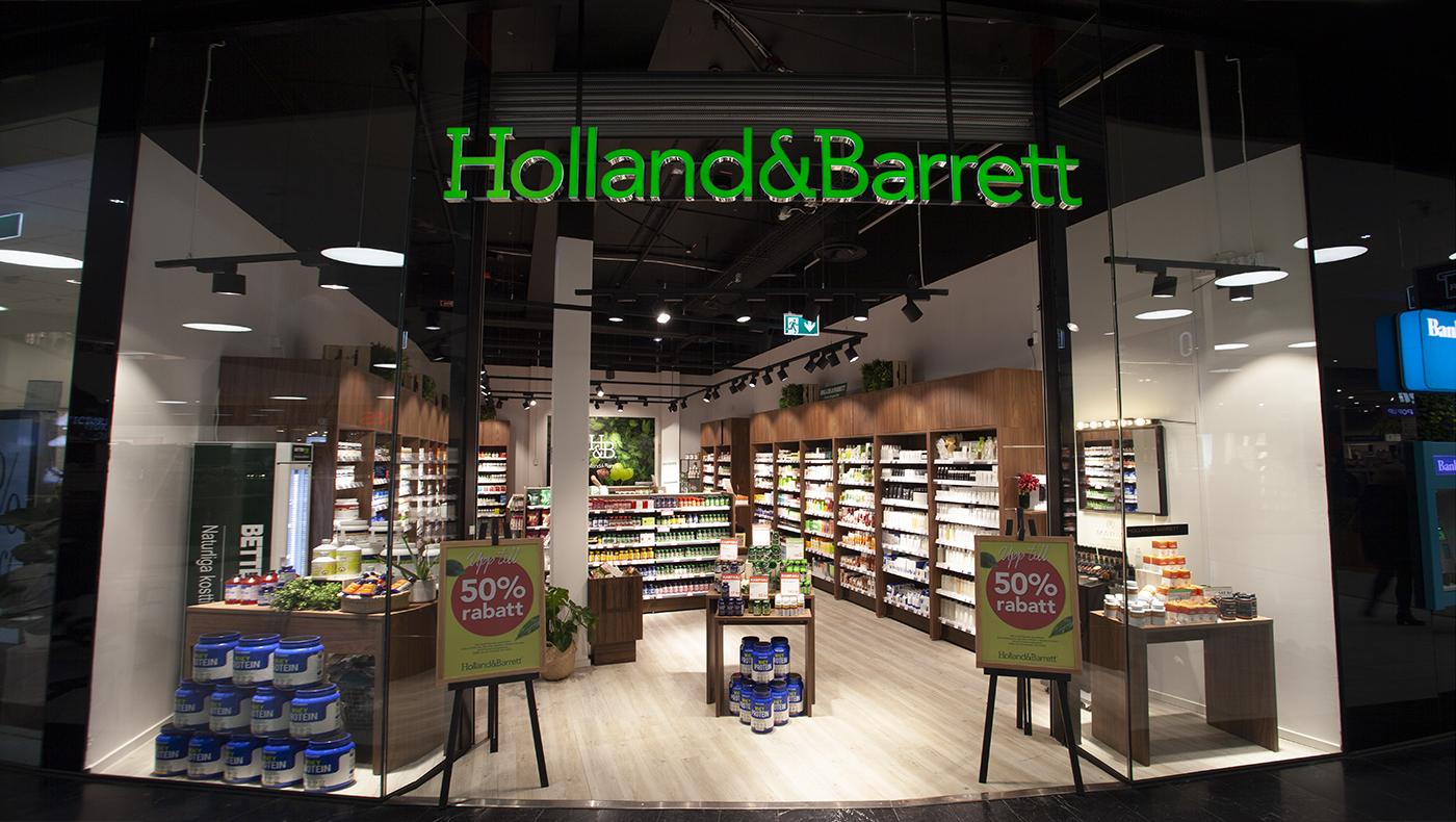 Entré ljusskylt Holland & Barrett