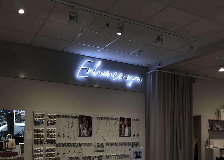 Neonskylt Edblad