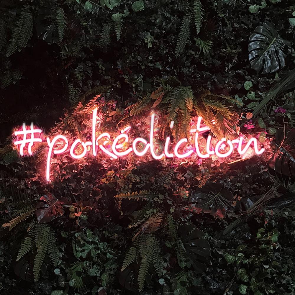 Neonskylt Pokediction