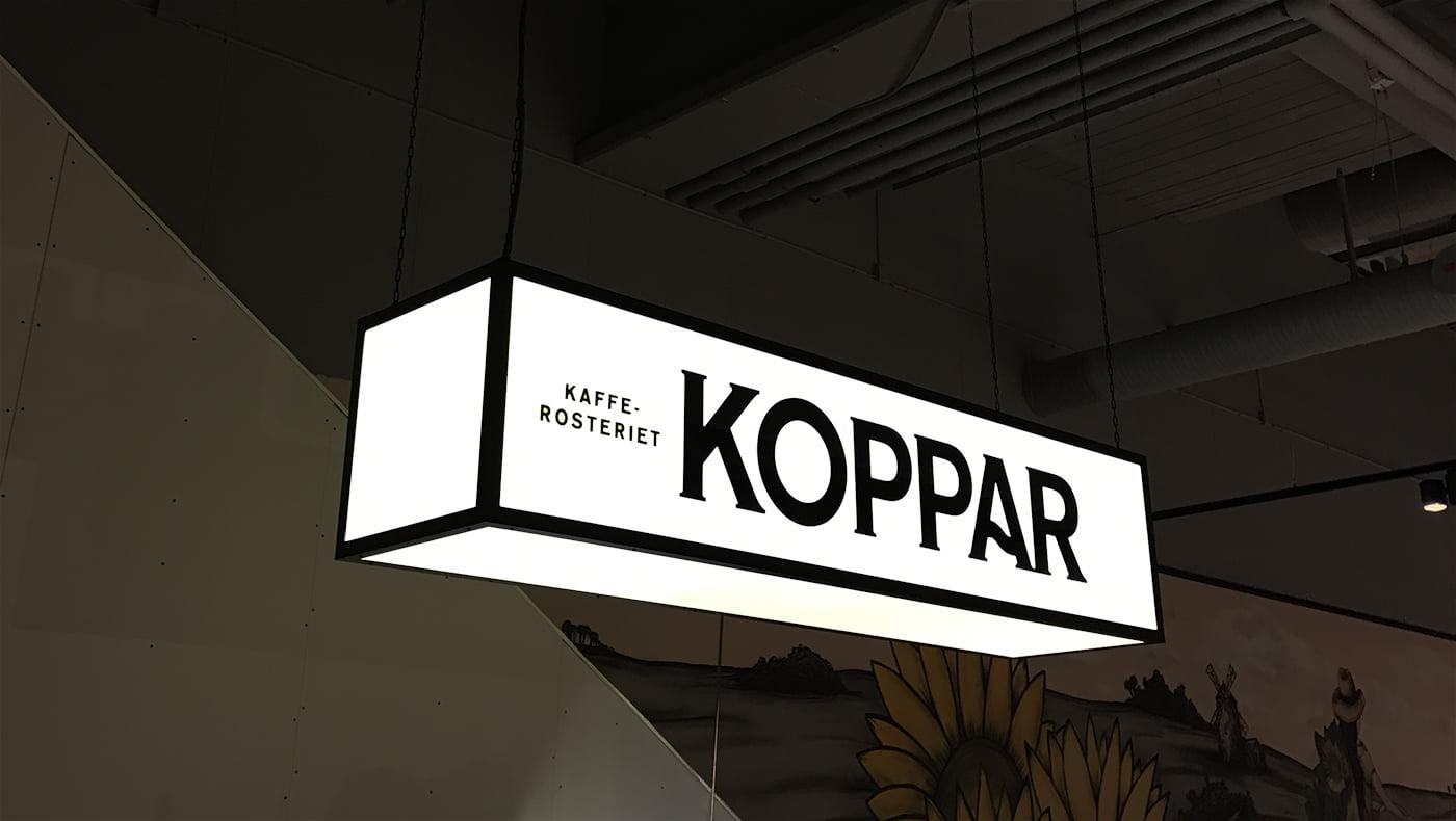Svart logga Koppar