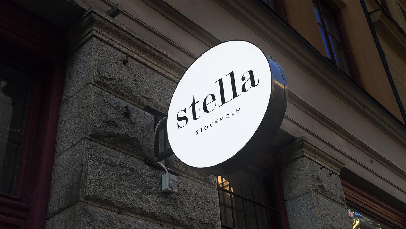 Svart logga Stella
